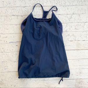 Fabletics black workout bra tank combo medium